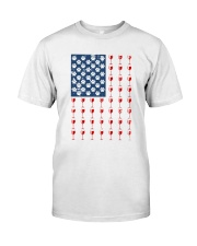 Dog Flag Mix Wine  Classic T-Shirt tile