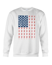 Dog Flag Mix Wine  Crewneck Sweatshirt thumbnail