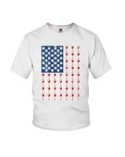 Dog Flag Mix Wine  Youth T-Shirt thumbnail