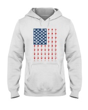 Dog Flag Mix Wine  Hooded Sweatshirt thumbnail
