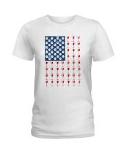 Dog Flag Mix Wine  Ladies T-Shirt thumbnail