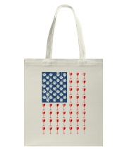 Dog Flag Mix Wine  Tote Bag thumbnail