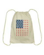 Dog Flag Mix Wine  Drawstring Bag thumbnail