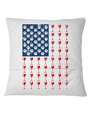 Flag Wine pillow Square Pillowcase back