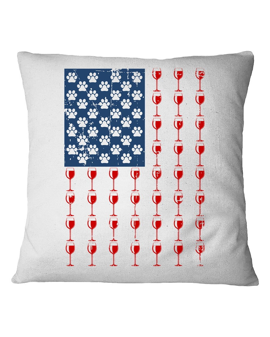 Flag Wine pillow Square Pillowcase