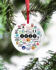Ornament Stay Home Circle ornament - single (porcelain) aos-circle-ornament-single-porcelain-lifestyles-07