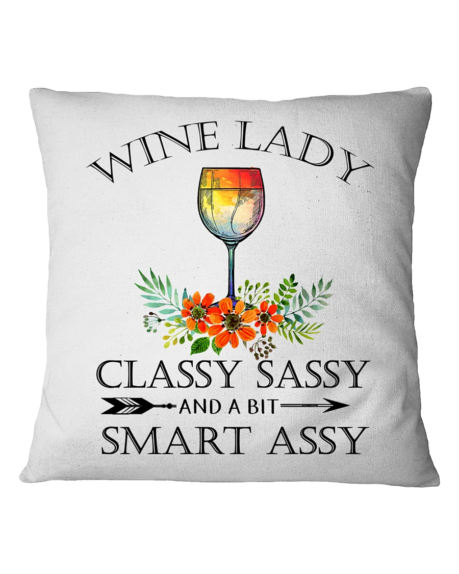 Wine  Lady pillow Square Pillowcase