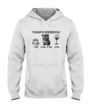 Today's Schedule Wine Hooded Sweatshirt front