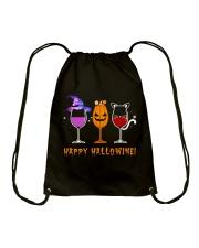 Happy Hallowine Drawstring Bag thumbnail