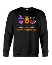 Happy Hallowine Crewneck Sweatshirt thumbnail