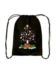 Wine Christmas Drawstring Bag thumbnail