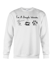 Yoga Coffee and Dogs Crewneck Sweatshirt thumbnail