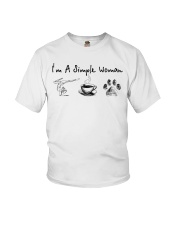 Yoga Coffee and Dogs Youth T-Shirt thumbnail