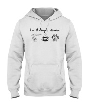 Yoga Coffee and Dogs Hooded Sweatshirt front
