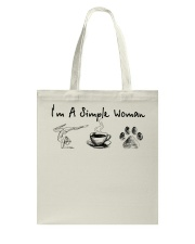 Yoga Coffee and Dogs Tote Bag thumbnail