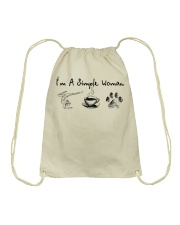 Yoga Coffee and Dogs Drawstring Bag thumbnail