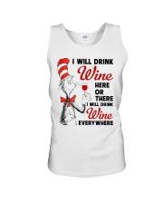 I Will Drink Wine Everywhere Unisex Tank thumbnail