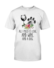 Love Wine Dog pillow Classic T-Shirt thumbnail