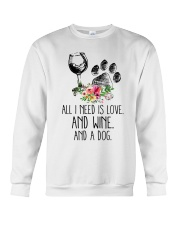 Love Wine Dog pillow Crewneck Sweatshirt thumbnail