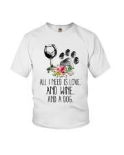Love Wine Dog pillow Youth T-Shirt thumbnail