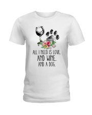 Love Wine Dog pillow Ladies T-Shirt thumbnail