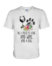 Love Wine Dog pillow V-Neck T-Shirt thumbnail