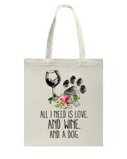 Love Wine Dog pillow Tote Bag tile