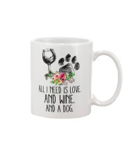 Love Wine Dog pillow Mug thumbnail