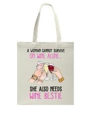 Wine Bestie Tote Bag thumbnail