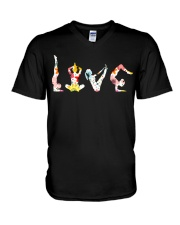 Yoga Love Flower V-Neck T-Shirt thumbnail