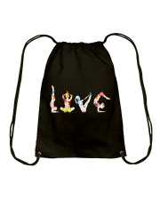 Yoga Love Flower Drawstring Bag thumbnail
