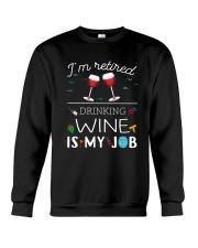 Drinking Wine is My Job  Crewneck Sweatshirt thumbnail