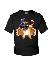 Wine And Dog  Youth T-Shirt thumbnail