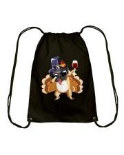 Wine And Dog  Drawstring Bag thumbnail