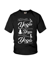I'm Either Practising Yoga Youth T-Shirt thumbnail