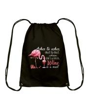Wine is A Must Drawstring Bag thumbnail