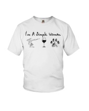 Yoga Wine and Dogs Youth T-Shirt thumbnail