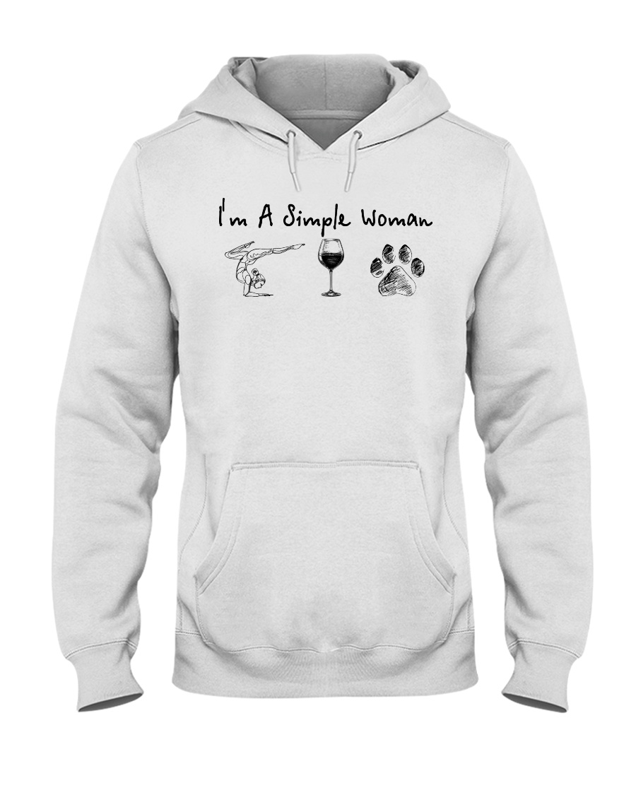 Yoga Wine and Dogs Hooded Sweatshirt