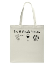Yoga Wine and Dogs Tote Bag thumbnail