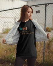 Wine I Need A Hug Classic T-Shirt apparel-classic-tshirt-lifestyle-07