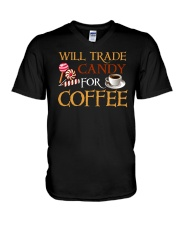 Will Trade Candy For Coffee V-Neck T-Shirt tile