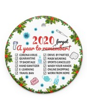 Ornament 2020 A Year To Remember Circle ornament - single (porcelain) front