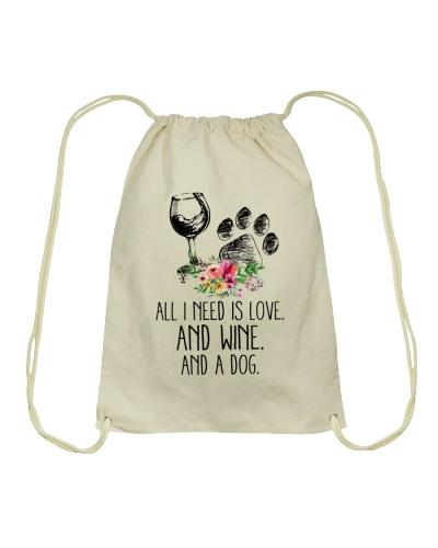 Love Wine Dog pillow