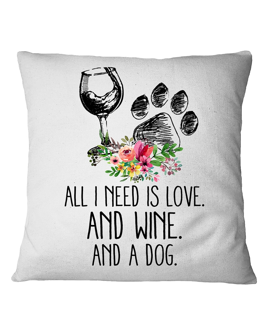 Love Wine Dog pillow Square Pillowcase showcase