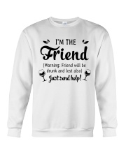 Wine I'm The Friend Crewneck Sweatshirt thumbnail