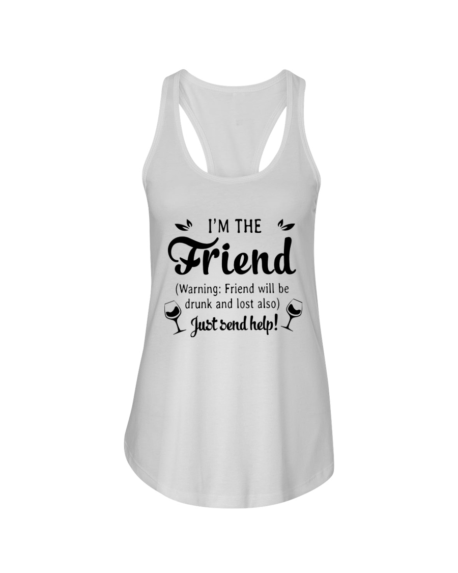 Wine I'm The Friend Ladies Flowy Tank