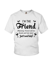 Wine I'm The Friend Youth T-Shirt thumbnail