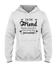 Wine I'm The Friend Hooded Sweatshirt thumbnail