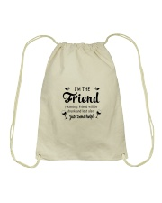 Wine I'm The Friend Drawstring Bag thumbnail