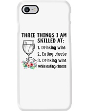 Wine Three Things Skilled Phone Case thumbnail